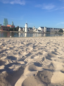 The view from the beach at the Disney Boardwalk
