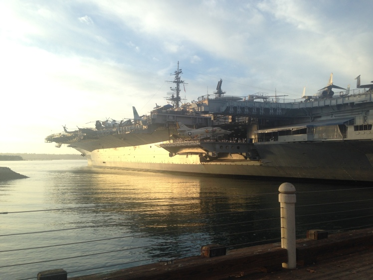 USS Midway - Sunset