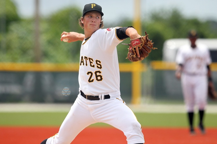 Hard-throwing righty Tyler Glasnow is Pittsburgh's top prospect entering 2015. (Cliff Welch / MiLB.com)