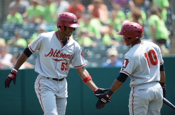 Keon Broxton (53) returns to Altoona after hitting a career-best .275 with q5 home runs in 2014 (Kevin Pataky/MiLB.com)