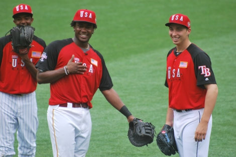 Josh Bell at the 2015 Futures Game in Cincinnati. (Jordan Childress)