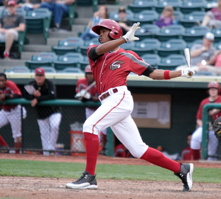 Keon Broxton returned to Altoona in 2015 with his eyes on the big leagues (Mark Olson / MiLB)