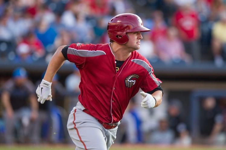 Stetson Allie is making the switch from first base to the outfield in 2015 (David Monseur / MiLB.com).
