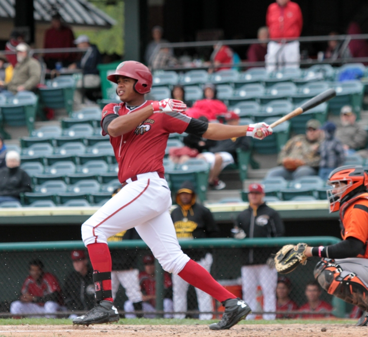 Curve outfielder Willy Garcia (Mark Olson / MiLB)