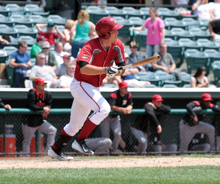 Curve catcher Jacob Stallings is having the best offensive season of his career in 2015 (Mark Olson / MiLB)