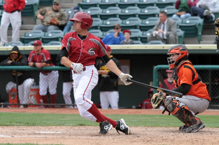 Curve third baseman Eric Wood is working through his first season at Double-A (Mark Olson / MiLB)