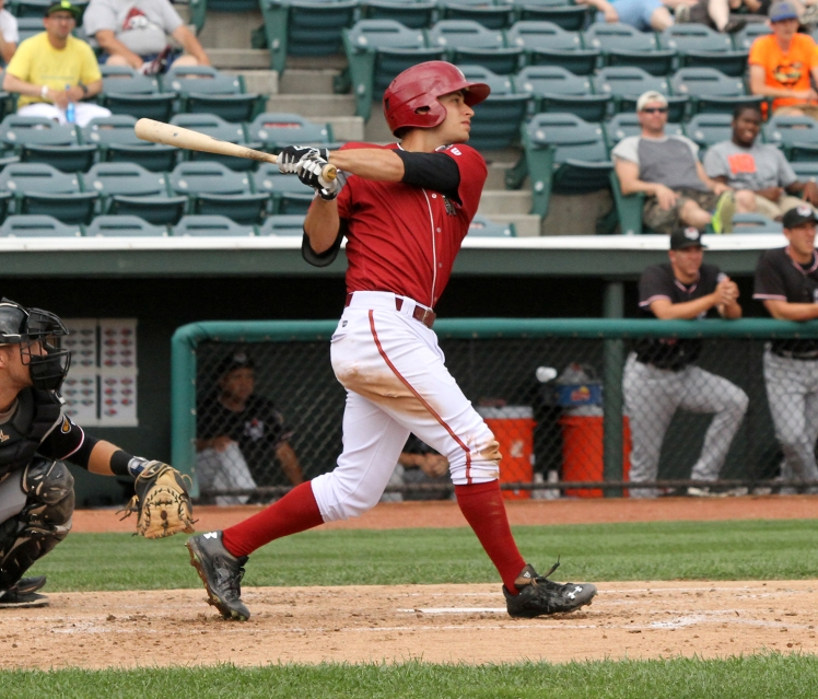 Curve second baseman Max Moroff is having a breakout season in 2015 (Mark Olson / MiLB).