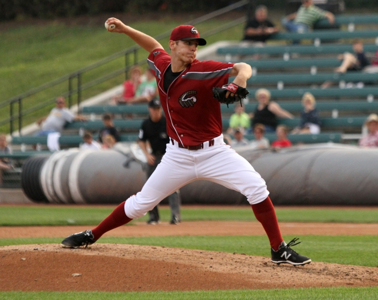 Curve pitcher Chad Kuhl (Mark Olson / MiLB)
