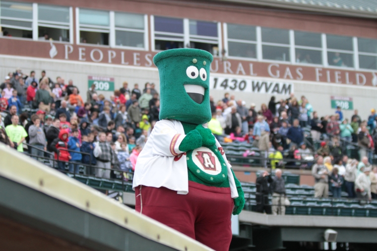 Since 1999, Steamer has entertained fans in Curve, PA (Mark Olson / MiLB)