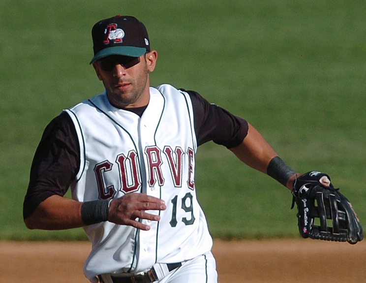 Jose Bautista | Black cap with green bill (Photo from 2005)
