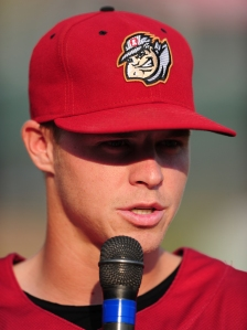 Brock Holt | Primary cap | Photo from 2012 (Kevin Pataky / MiLB)