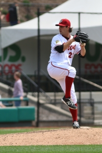 MILB:   APR 25 Rubber Ducks vs Curve
