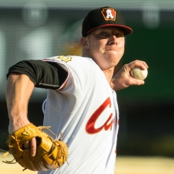 Vieaux was named 2018 Altoona Curve Pitcher of the Year after he totaled nine wins in 15 starts with the Curve (Photo: Rob Lynn)